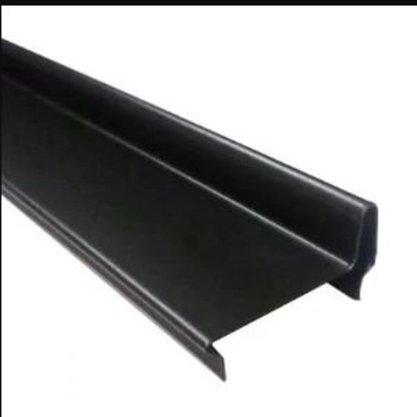 Perfil divisória batente de porta N21AV 35x2128x0,50mm-Preto