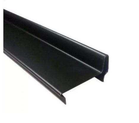 Perfil divisória batente superior de porta N21AH 35x832x0,50mm-Preto