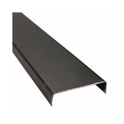Perfil Divisória Requadro de Porta N21B 35x0,43mm-Preto
