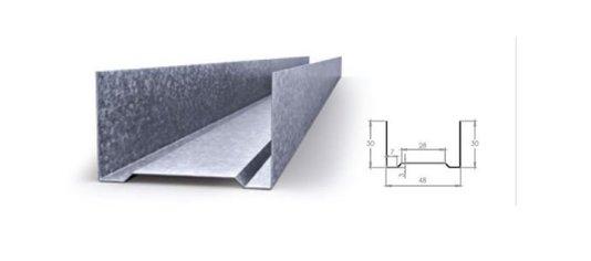 Perfil drywall guia 30x48x3000mm-perfil com 3mts