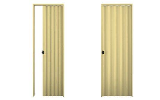 Porta sanfonada PVC 2,10m Areia-Plasbil