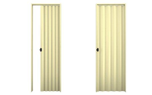 Porta sanfonada PVC 2,10m Bege-Plasbil