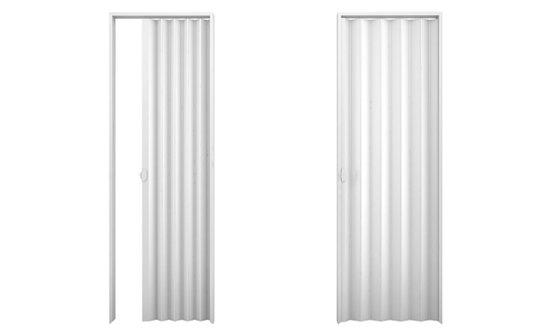 Porta sanfonada PVC 2,10m Branca-Plasbil