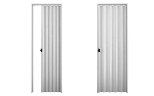 Porta sanfonada PVC 2,10m Cinza-Plasbil