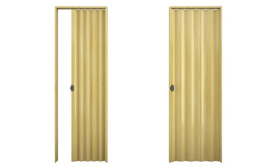 Porta sanfonada PVC 2,10m Natural-Plasbil