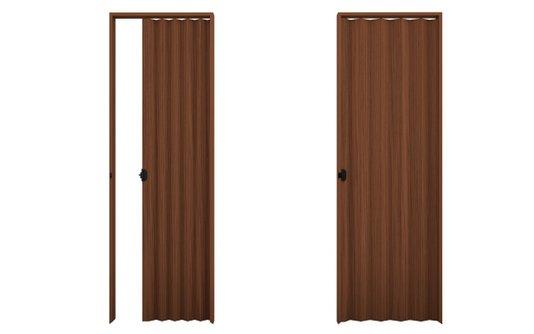 Porta sanfonada PVC 2,10m Relevo Mogno-Plasbil