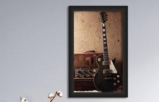 Quadro Decorativo em PVC Guitarra Grunge
