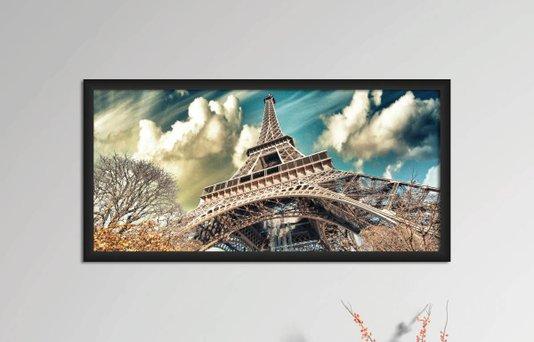 Quadro Decorativo em PVC Torre Eiffel