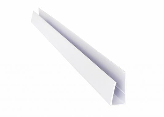 Rodaforro Arremate U 30x10x6000mm Branco- barra 6mts