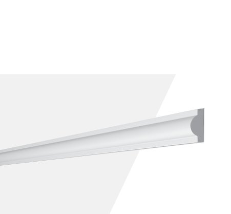 Rodameio Boiserie de Poliuretano SP2N 10x21x2000mm Branco Gart- Barra com 2mts