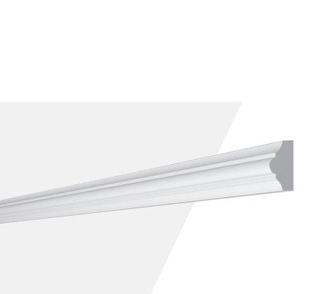 Rodameio Boiserie de Poliuretano SP3N 13x23x2000mm Branco Gart- Barra com 2mts