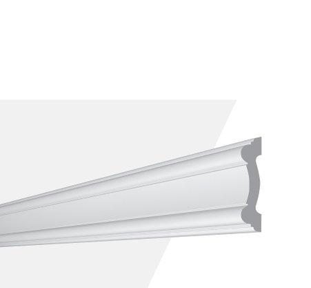 Rodameio Boiserie de Poliuretano Z1550 20x80x2000mm Branco Gart- Barra com 2mts