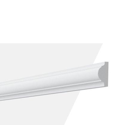 Rodameio Boiserie de PU S4 20x40x2000mm Branco Gart-2m
