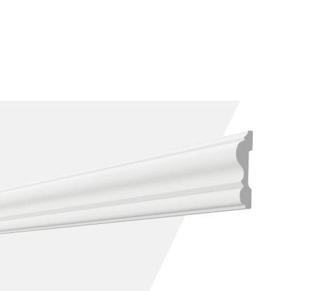 Rodameio Boiserie de PU S8 20x80x2000mm Branco Gart-2m
