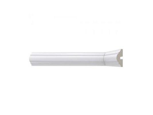 Rodameio de Poliestireno 465 40X17X2400mm Branco Santa Luzia-2,40m