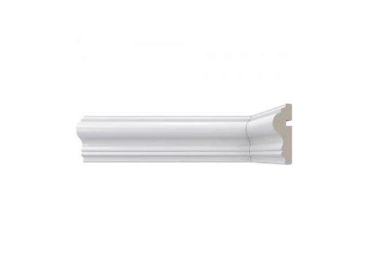 Rodameio de Poliestireno 467 60x23x2400mm Branco Santa Luzia-2,40m