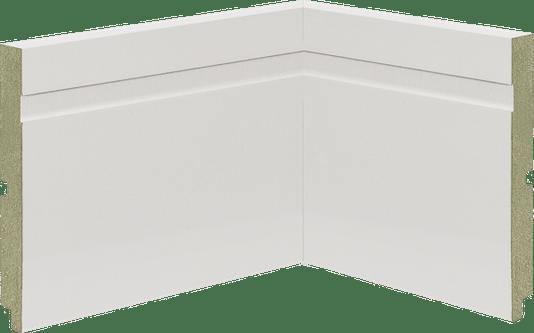 Rodapé de MDF Premium 14cm Branco com Friso- 2,40mts
