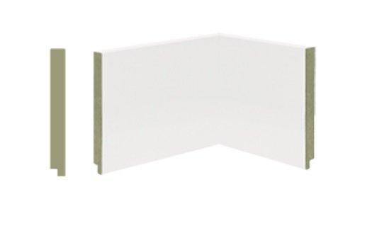 Rodapé de MDF Premium 14cm Branco Liso- 2,40mts
