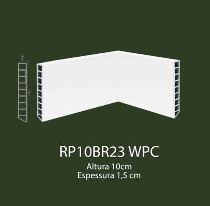 Rodapé de WPC 10cm Branco liso- 2,20mts