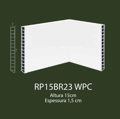 Rodapé de WPC 15cm Branco liso- 2,20mts