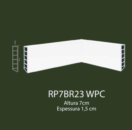 Rodapé de WPC 7cm Branco liso- 2,20mts