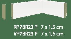 Rodapé MDF Premium 7cm Branco liso-2,40mts