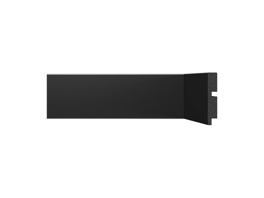 Rodapé Santa Luzia de Poliestireno Black 3451 70x13 mm Preto-2,40mts