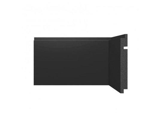 Rodapé Santa Luzia de Poliestireno Black 3461 150x16 mm Preto-2,40mts