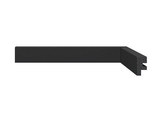 Rodapé Santa Luzia de Poliestireno Black 3466 30x16 mm Preto -2,40mts