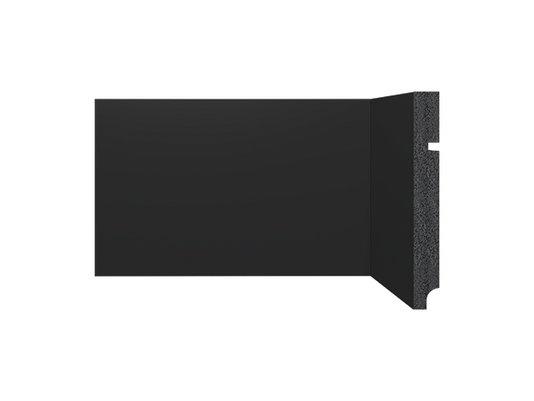 Rodapé Santa Luzia de Poliestireno Black 3496 150x16 mm Preto -2,40mts