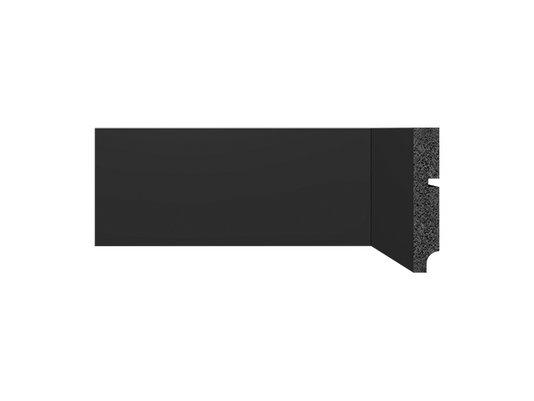 Rodapé Santa Luzia de Poliestireno Black 3547 100x16 mm Preto -2,40mts