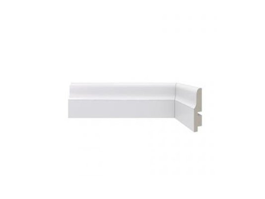 Rodapé Santa Luzia de Poliestireno Clássica 442 67x15mm Branco -2,40mts