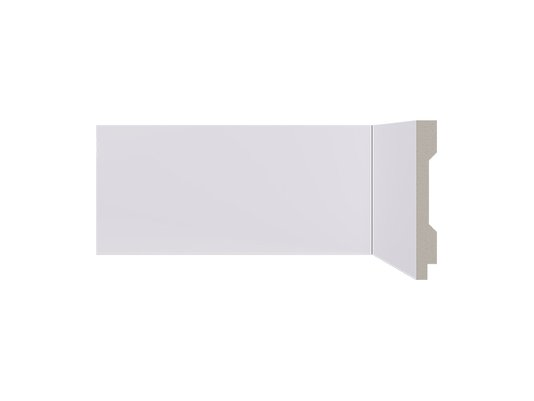 Rodapé Santa Luzia de Poliestireno LEV101 100x13 mm Branco-2,40mts