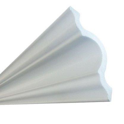 Rodateto isopor A100 95x95x2000mm Branco-Barra c/2mts