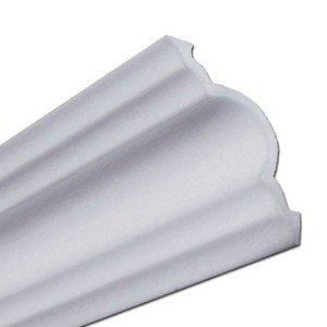 Rodateto isopor A60 55x55x2000mm Branco- Conj.2 barras