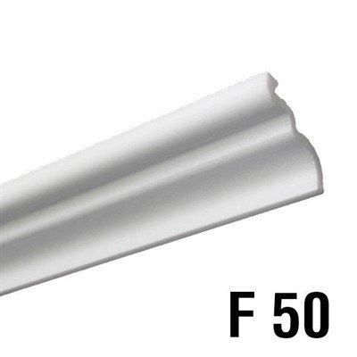 Rodateto isopor F50 40x45x2000mm Branco-Conj.2 barras