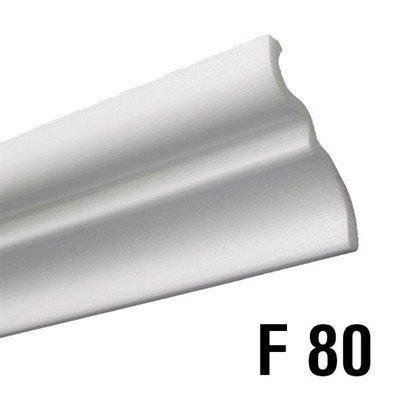 Rodateto isopor F80 65x73x2000mm Branco-Barra c/ 2mts