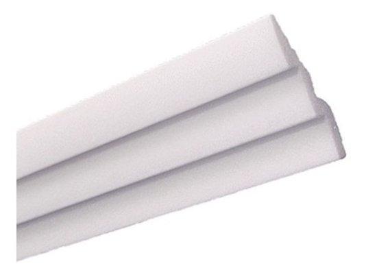 Rodateto isopor R60 20x65x2000mm Branco-Conj.2 barras
