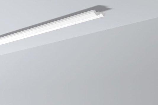 Rodateto Poliestireno N 70x20x2000mm Branco Gart- 2m