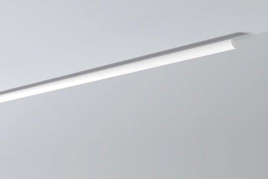 Rodateto Poliestireno QR 20x20x2000mm Branco Gart-2m