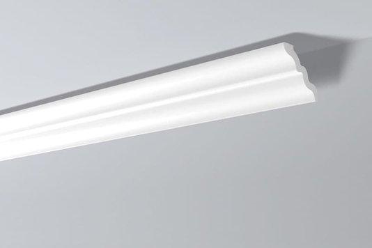 Rodateto Poliestireno SM 105X95x2000mm Branco Gart- 2m