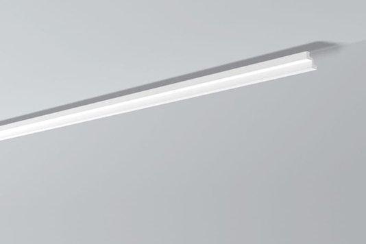 Rodateto Poliestireno ST2 50x50x2000mm Branco Gart- 2m