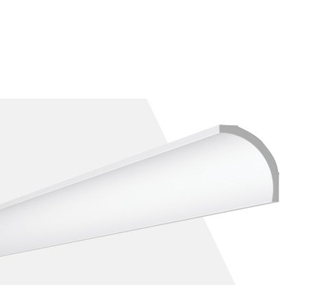 Rodateto Poliestireno B1 80X65x2000mm Branco Gart-2m