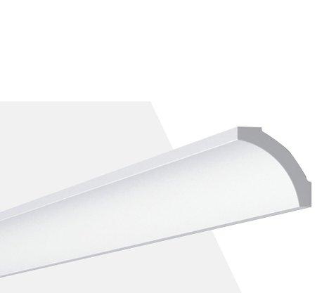 Rodateto Poliestireno B5 50x50x2000mm Branco Gart-2m