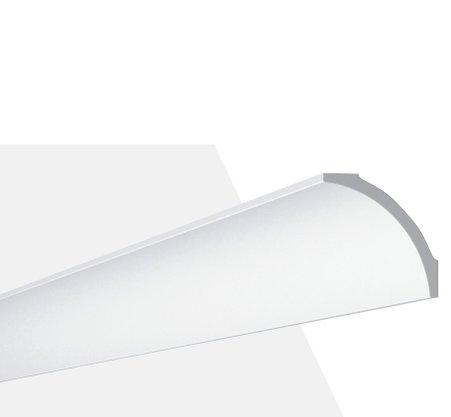 Rodateto Poliestireno B8 82x82x2000mm Branco Gart-2m