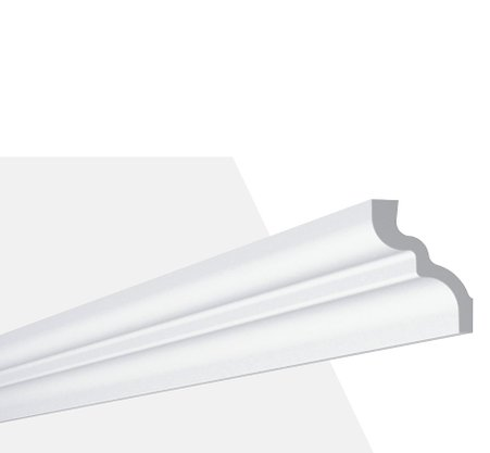 Rodateto Poliestireno C 65x80x2000mm Branco Gart-2m