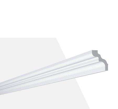 Rodateto Poliestireno D 50x40x2000mm Branco Gart- 2m