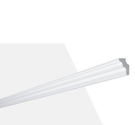 Rodateto Poliestireno E 25X20x2000mm Branco Gart-2m