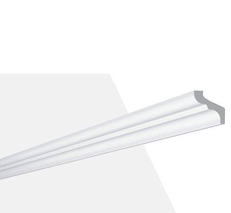 Rodateto Poliestireno F 30x35x2000mm Branco Gart- 2m