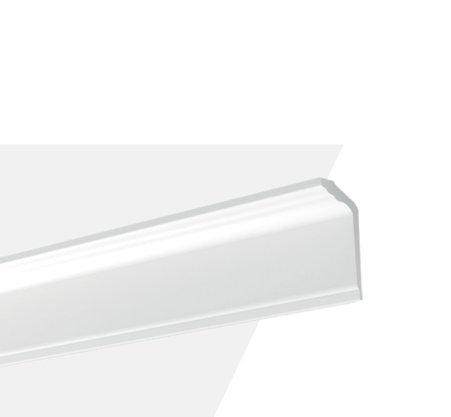 Rodateto Poliestireno GT 120x50x2000mm Branco Gart- 2m